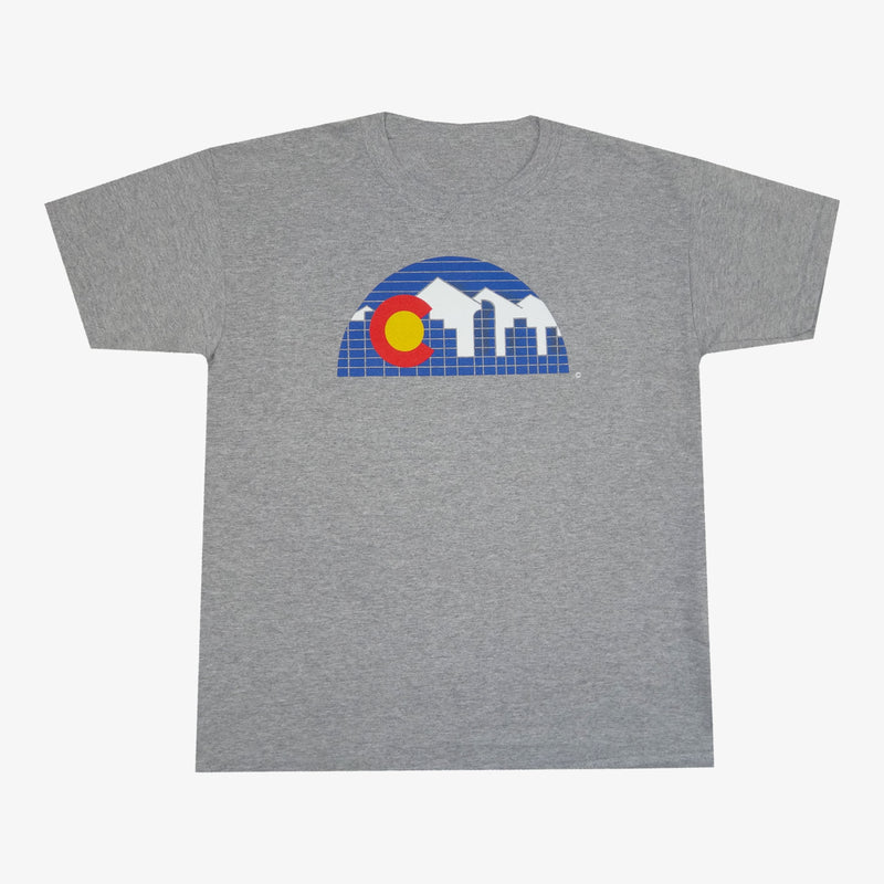 Aksels Youth Denver Skyline T-Shirt - Charcoal