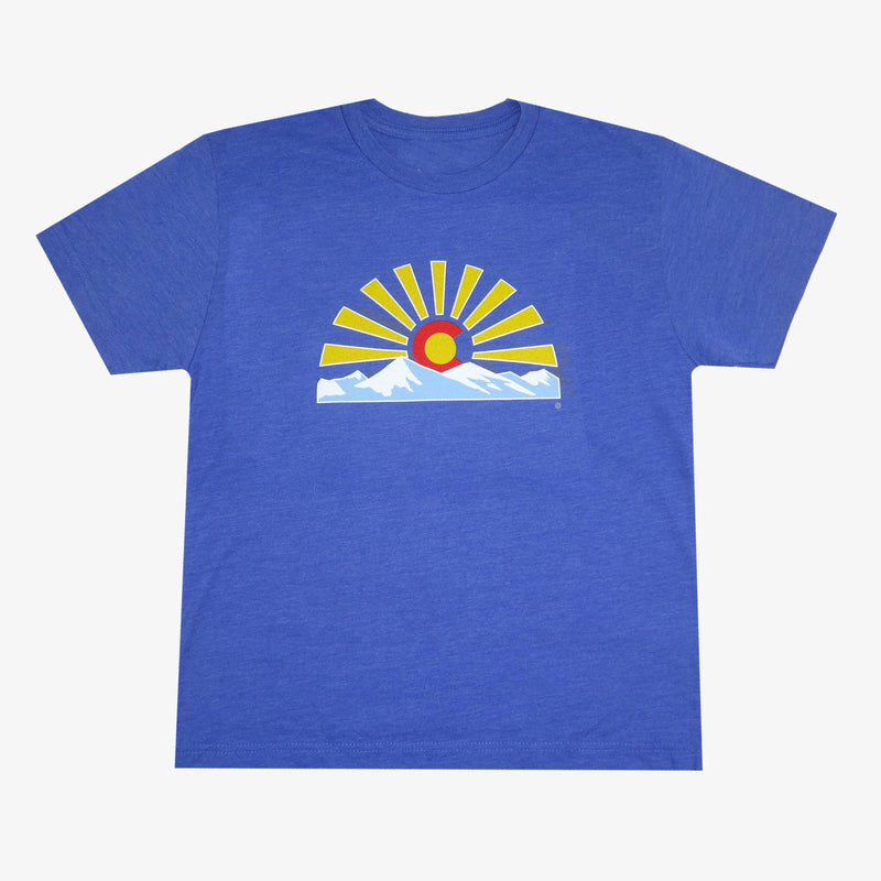 Aksels Youth Colorado Sunset T-Shirt - Green