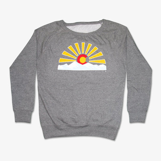 Aksels Women's Crew Neck Colorado Sunset Sweatshirt