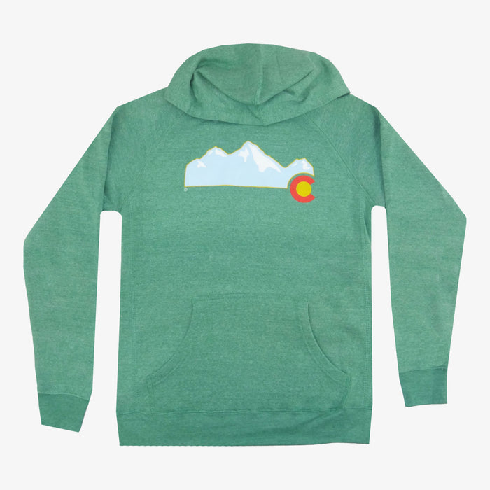 Colorado Mountain Hoodie - Green