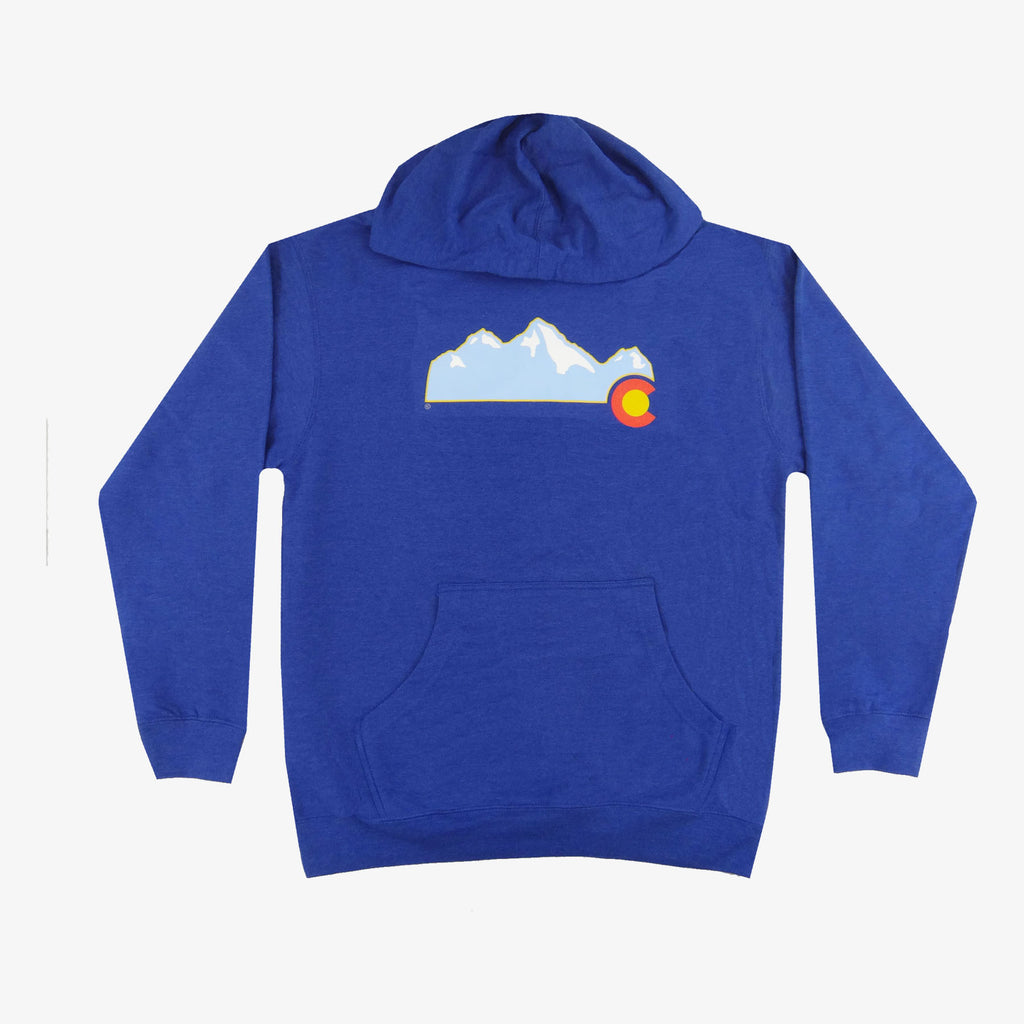 Colorado Mountain Hoodie - Royal