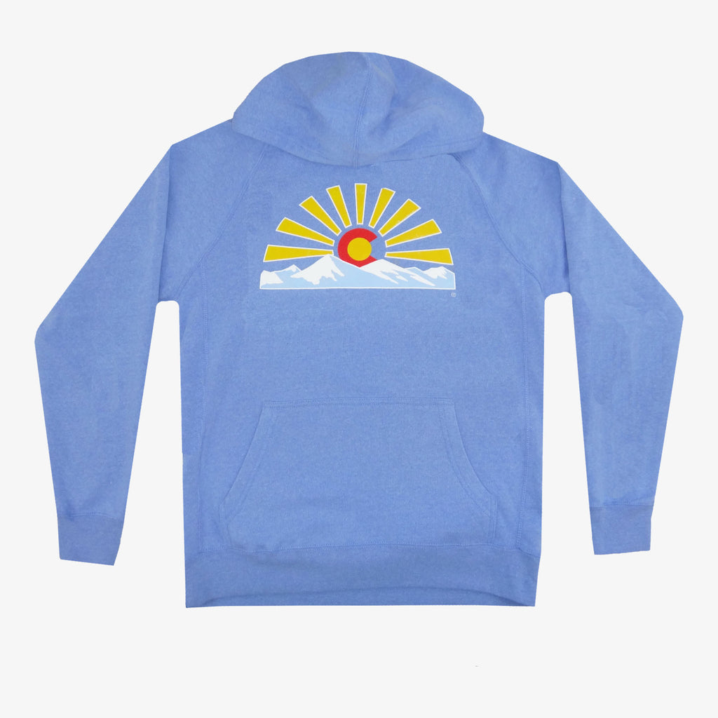 Colorado Sunset Hoodie - Baby Blue