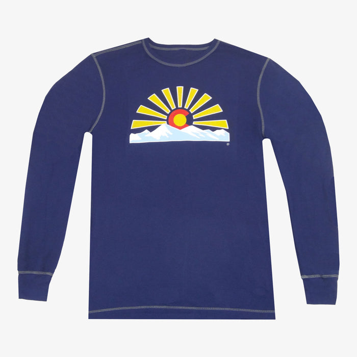 Colorado Sunset Thermal - Navy