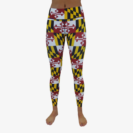 Women's Maryland Flag Yoga Pant