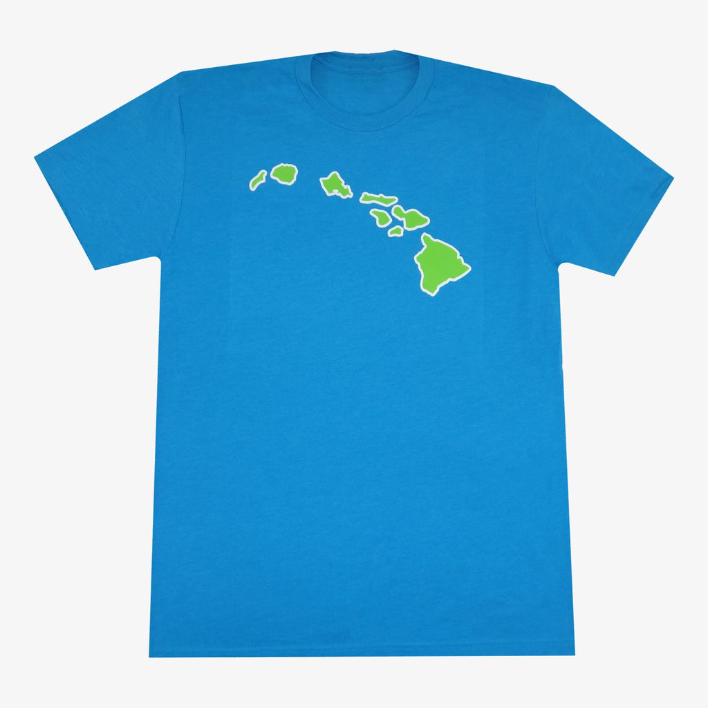 Aksels Hawaiian Islands T-Shirt - Aqua