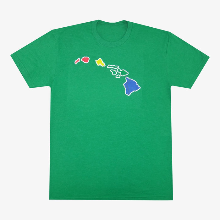 Aksels Hawaiian Islands T-Shirt - Green