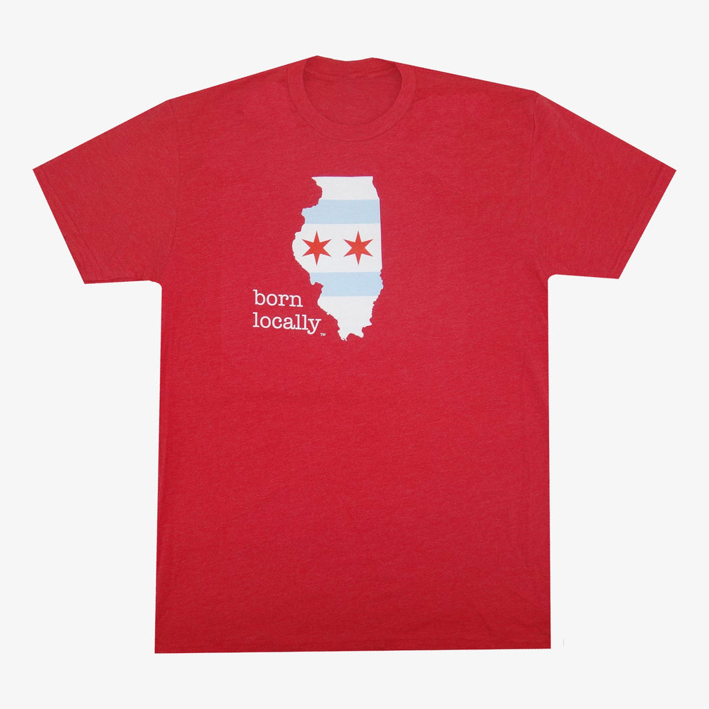 Aksels Born Locally Chicago T-Shirt - Red