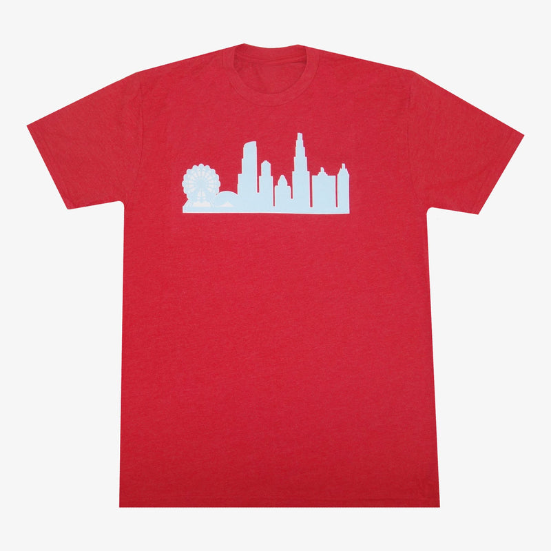 Aksels Chicago Skyline T-Shirt - Charcoal