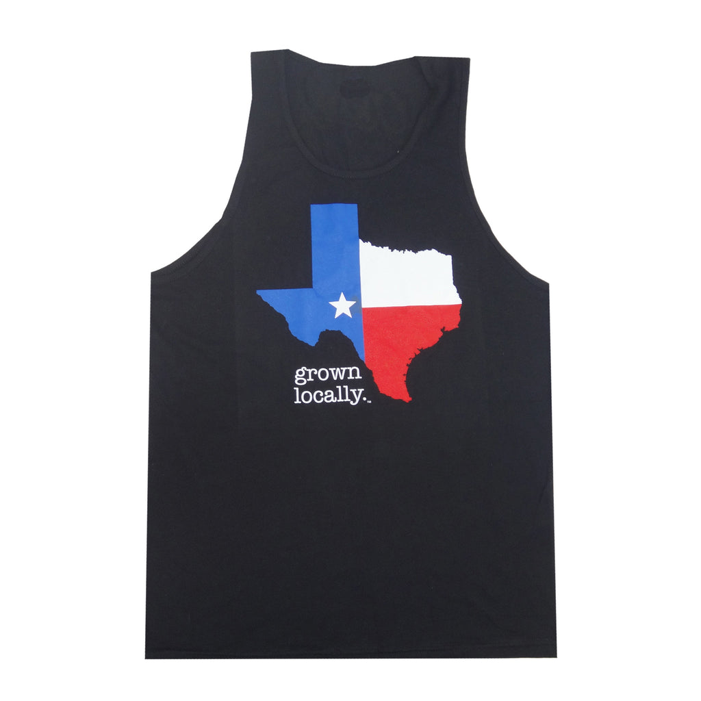 Texas Grown Locally Tank Top - Black