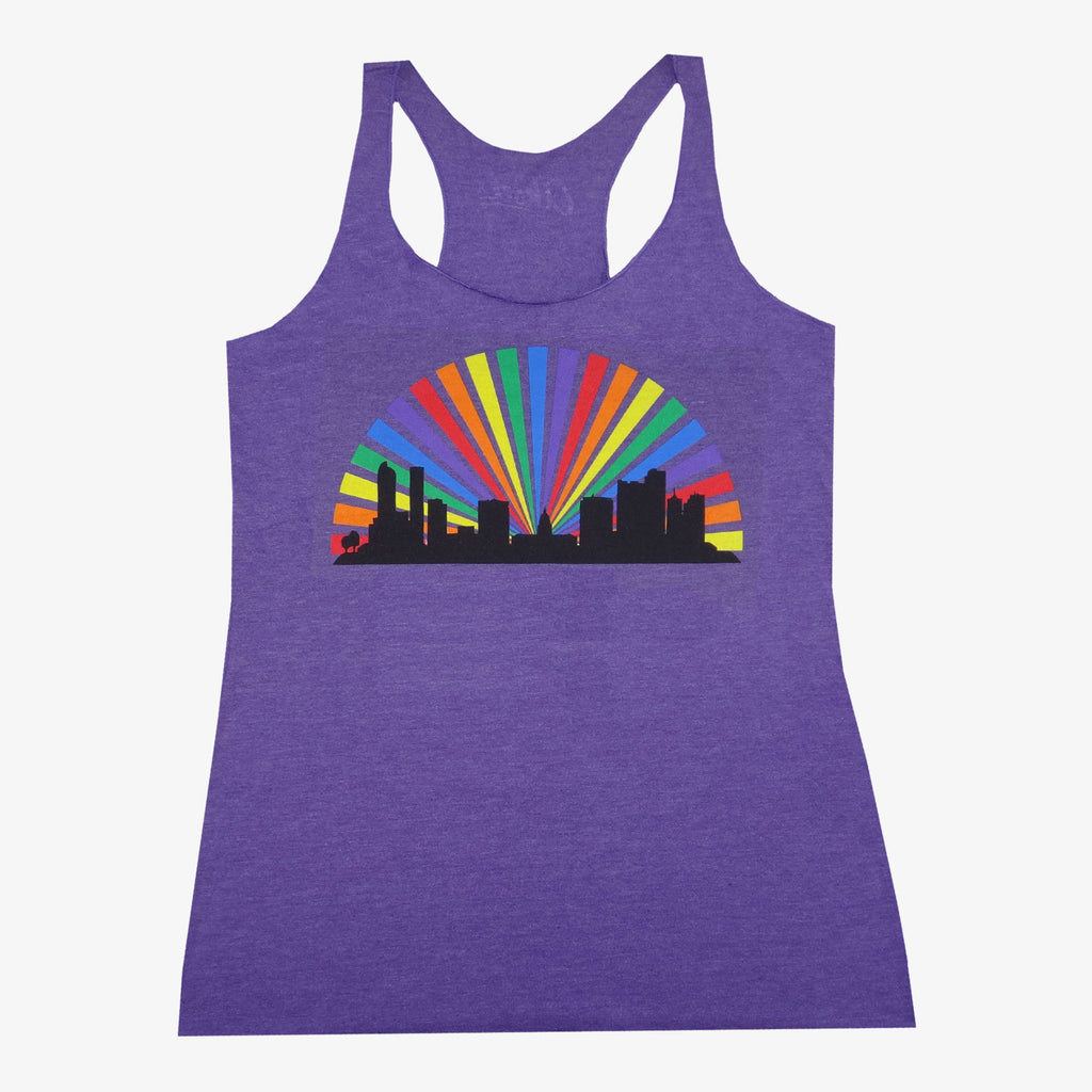 Women's Denver Skyline Rainbow Tank Top