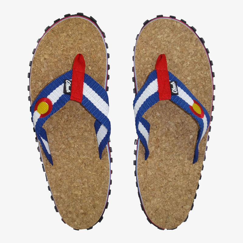 Aksels Colorado Flag Cork Sandals