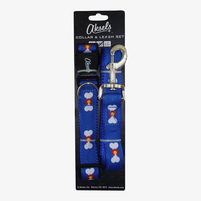 Aksels Colorado Dog Leash & Collar Combo