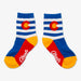 Aksels Kids Striped Colorado Flag Socks