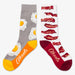 Aksels Youth Split Pair Bacon and Eggs Socks