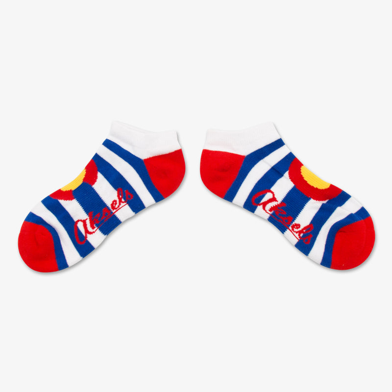 Aksels Striped Colorado Flag Ankle Socks