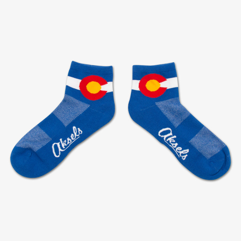 Aksels CoolMax Colorado Flag Ankle Socks