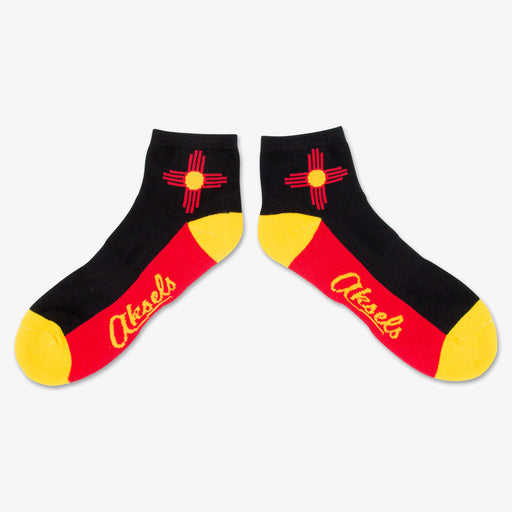 Aksels High New Mexico Flag Ankle Socks