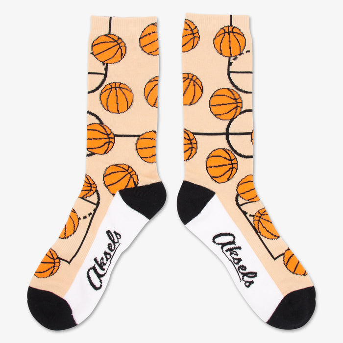 Aksels All Over Print Basketball Socks