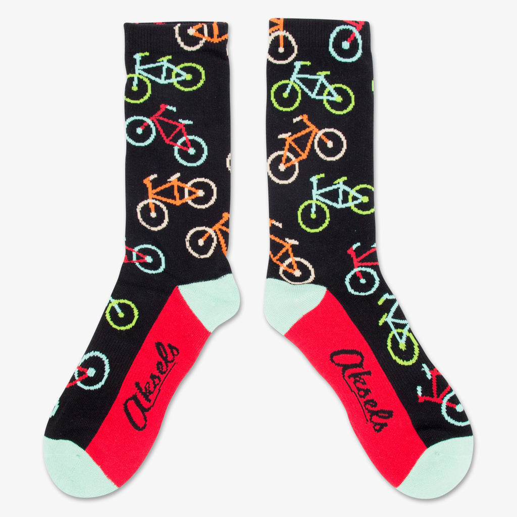 Aksels All Over Print Neon Bike Socks