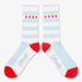 Aksels Striped Chicago Flag Socks - Baby Blue