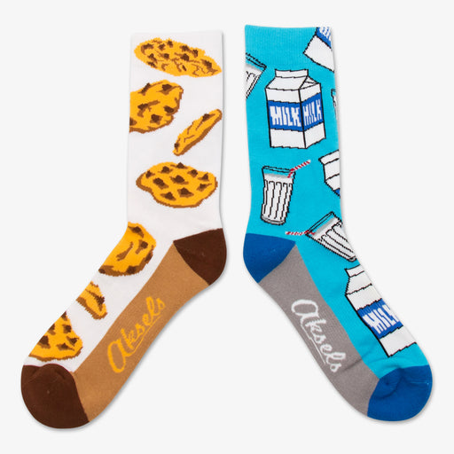 Aksels Split Pair Milk and Cookies Socks