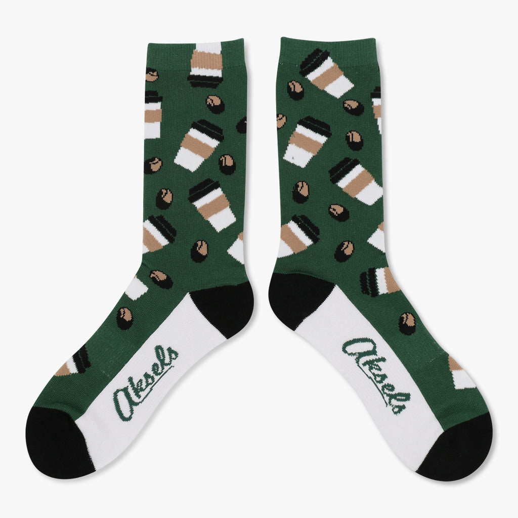 Aksels Coffee Cups and Beans Socks