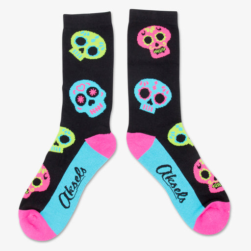 Aksels All Over Print Day Of The Dead Socks - Black