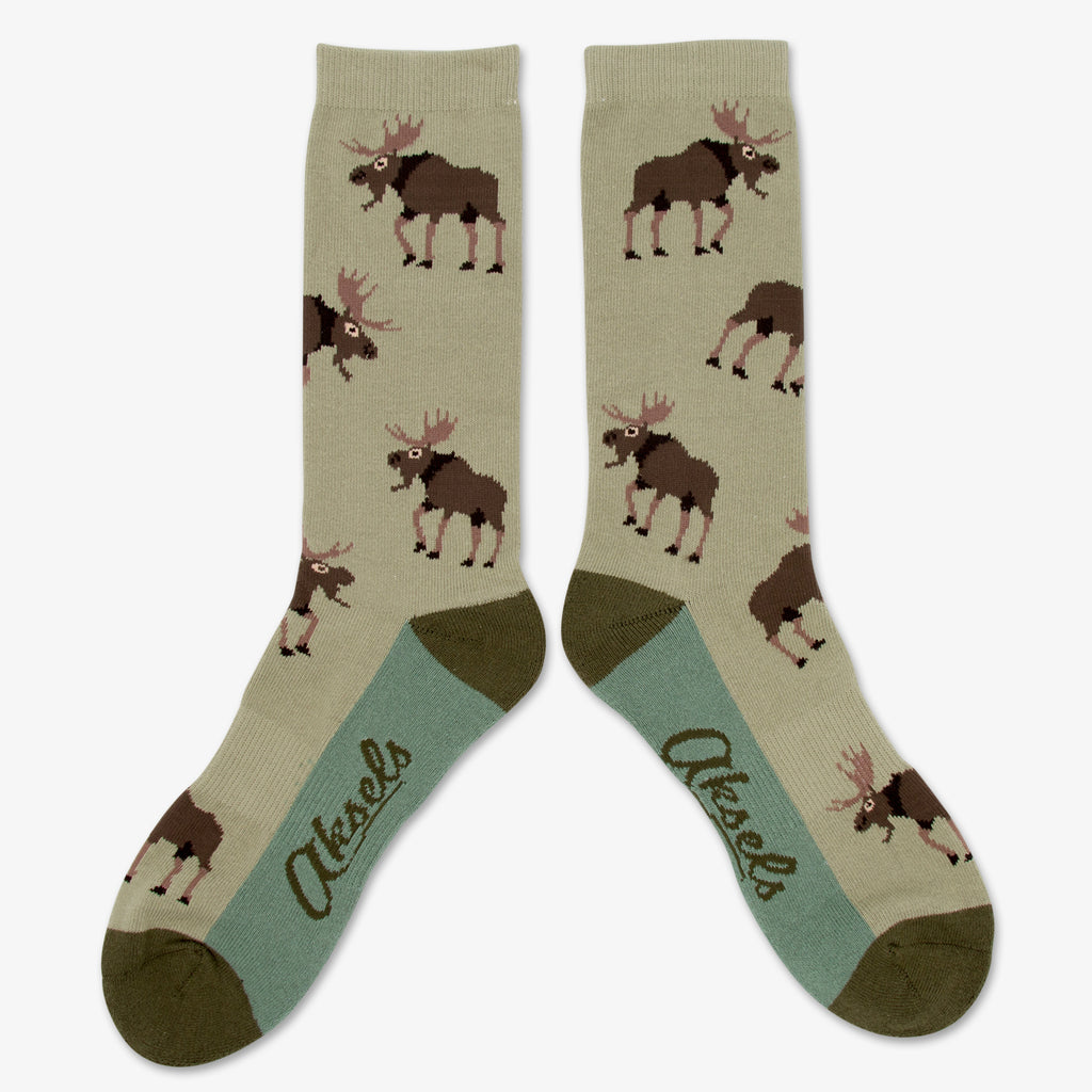 Aksels All Over Print Moose Socks