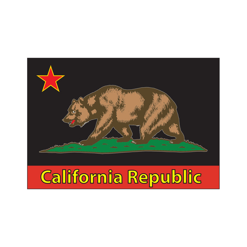 California Flag Sticker - White