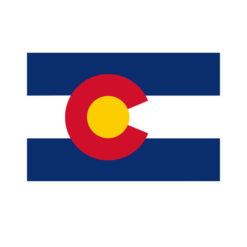 Aksels Colorado Flag Sticker