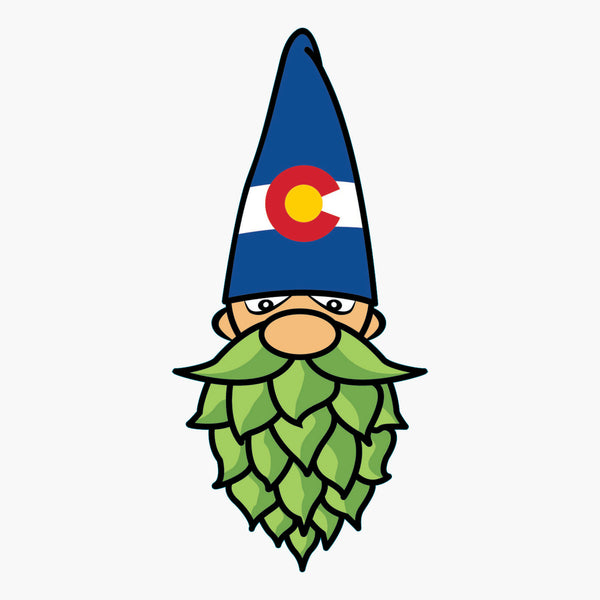 Colorado Hops Gnome Sticker