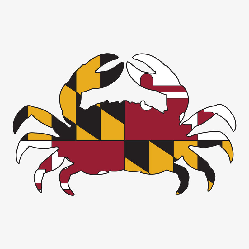 Aksels Cut-Out Maryland Flag Crab Sticker