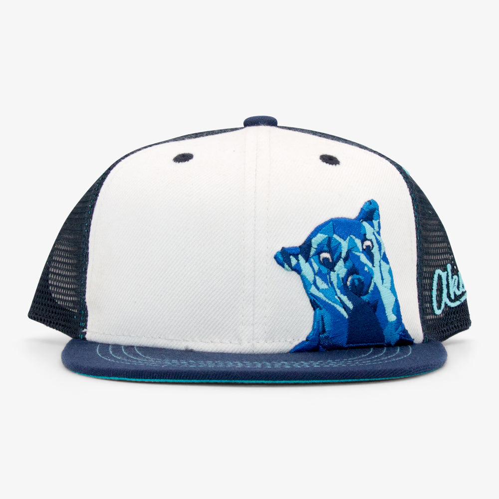 Aksels Youth Denver Bear Trucker Hat - Blue
