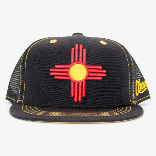 Aksels Youth New Mexico Zia Trucker Hat - Black