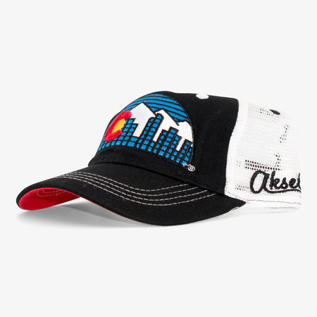 Aksels Youth Colorado Skyline Unstructured Trucker Hat