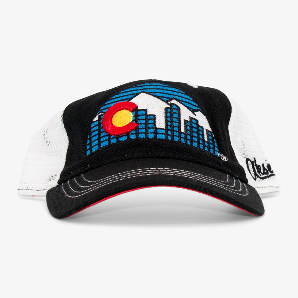 Colorado Skyline Unstructured Trucker Hat
