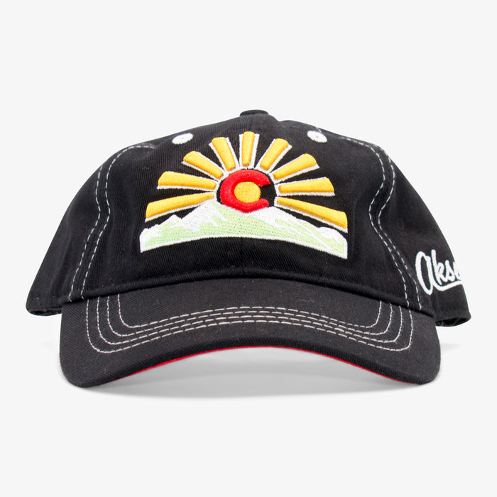 Aksels Youth Colorado Sunset Strapback Hat - Black