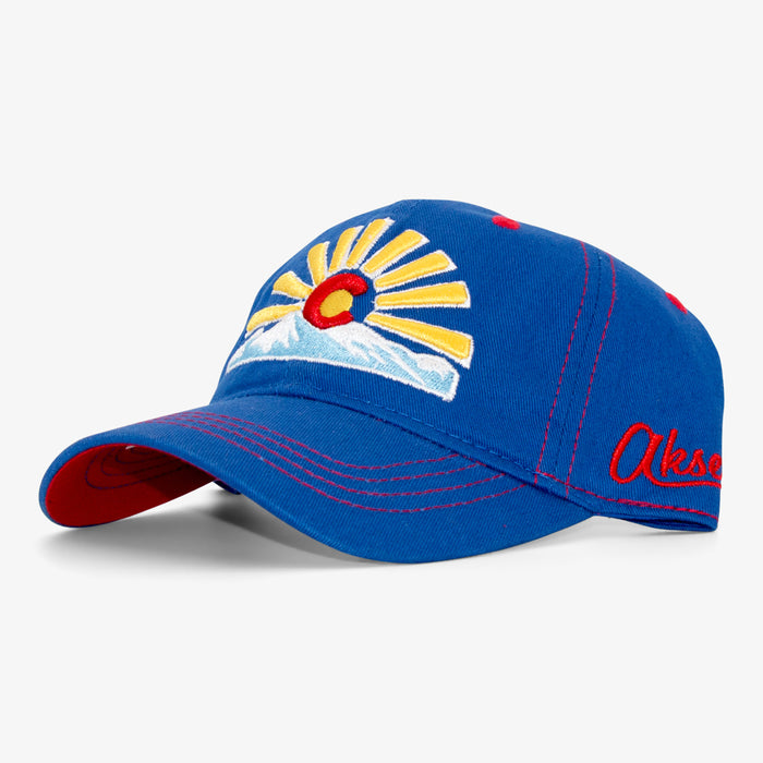 Aksels Youth Colorado Sunset Strapback Hat - Royal