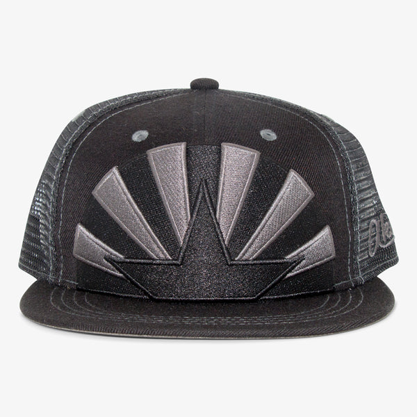 Arizona Flag Star Flat Bill Snapback Hat - All Black