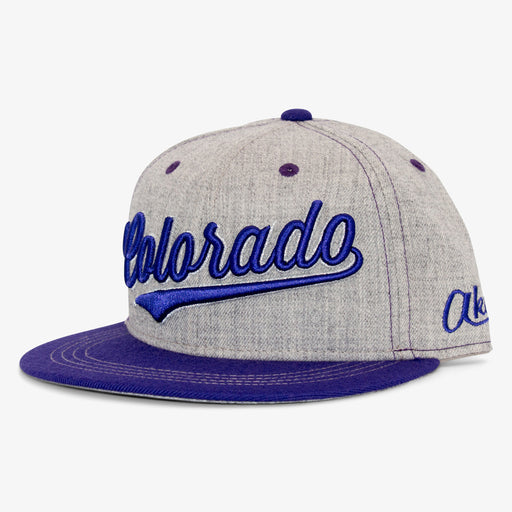 Aksels Cursive Colorado Snapback Hat - Purple