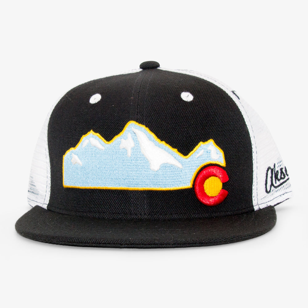 Aksels Colorado Mountain Trucker Hat - Black