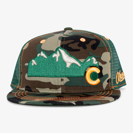 Aksels Colorado Mountain Trucker Hat - Camo