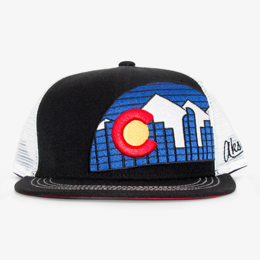 Denver Skyline Black w/ White Hat