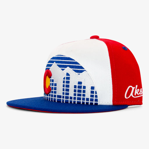 Aksels Throwback Colorado Skyline Snapback Hat