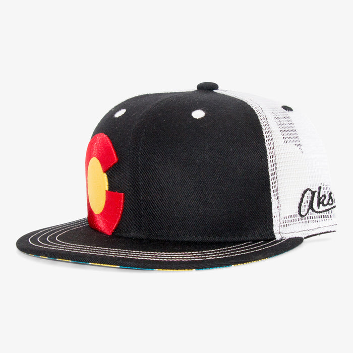 Aksels Colorado Big C Sunrise Trucker Hat
