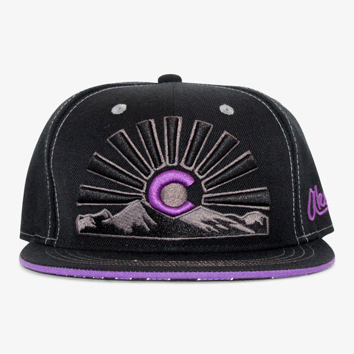 Aksels Colorado Sunset Views Snapback Hat - Purple