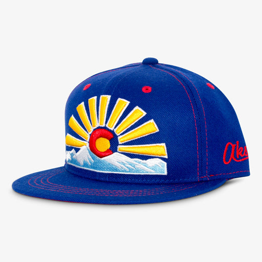 Aksels Colorado Sunset Snapback Hat - Royal