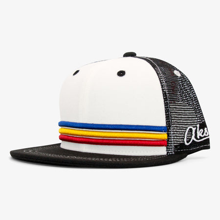 Aksels Colorado Stripes Trucker Hat - Black