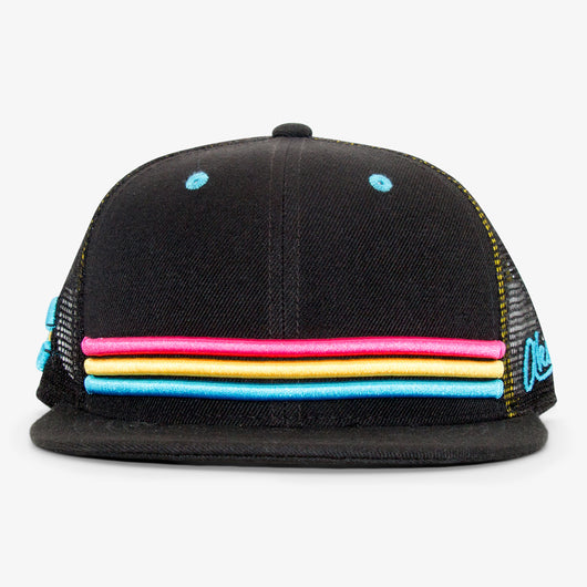 Colorado Stripes Flat Bill Snapback Hat - Neon
