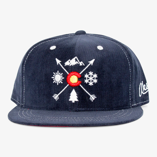 CO Arrows Navy Corduroy Hat